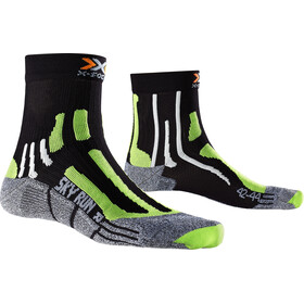 X-Socks Sky Run 2.0 Socks Men Black/Green Lime/Mouline Grey